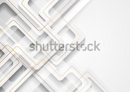 аннотация серый бумаги Tech шестиугольник Сток-фото © saicle