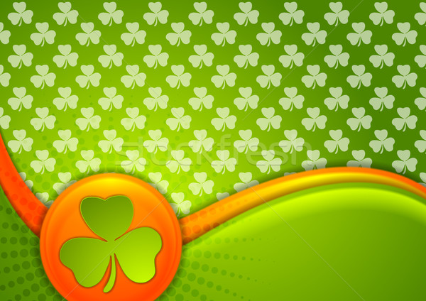 St. Patrick Day waves background with Irish flag colors Stock photo © saicle
