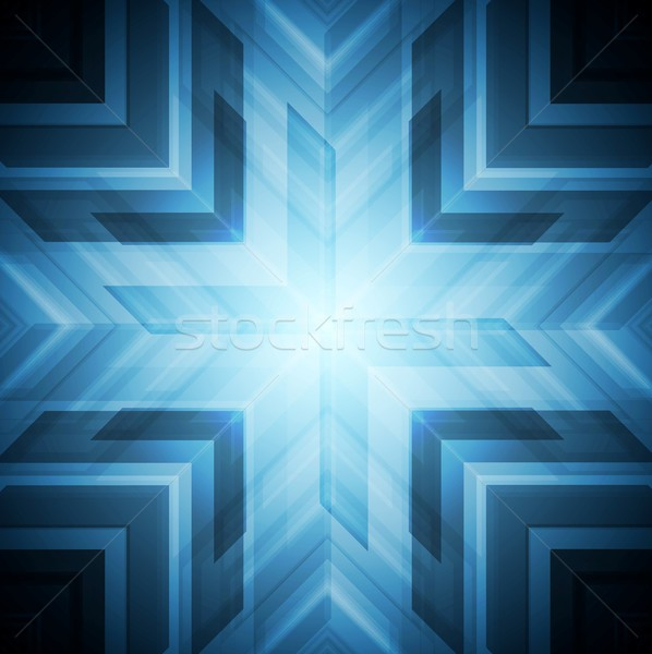 Abstract blue technology background Stock photo © saicle