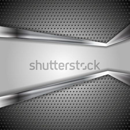 Abstract perforated metal background Stock photo © saicle