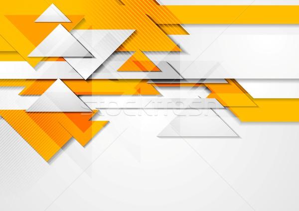 Pomarańczowy błyszczący ruchu wektora projektu tekstury Zdjęcia stock © saicle