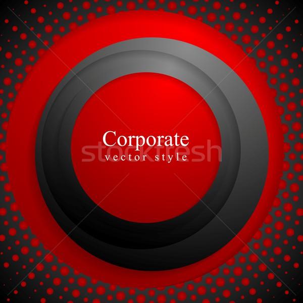 Rojo negro círculos grunge medios tonos vector Foto stock © saicle