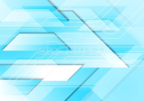 シアン ハイテク 幾何学的な 青 ターコイズ 技術 ストックフォト © saicle