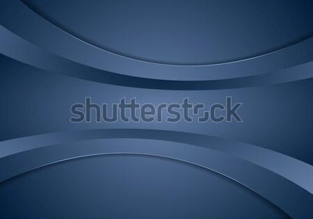 Resumen azul empresarial ondulado vector olas Foto stock © saicle