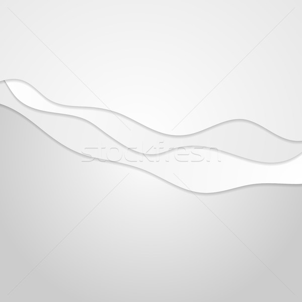 Abstract grey minimal wavy background Stock photo © saicle