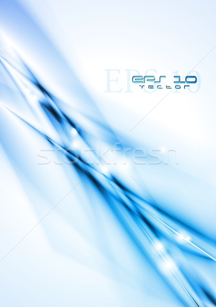 Elegante colorato design abstract blu moderno Foto d'archivio © saicle