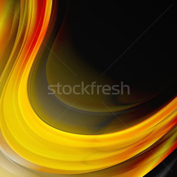 Resumen ondulado diseno vector brillante olas Foto stock © saicle