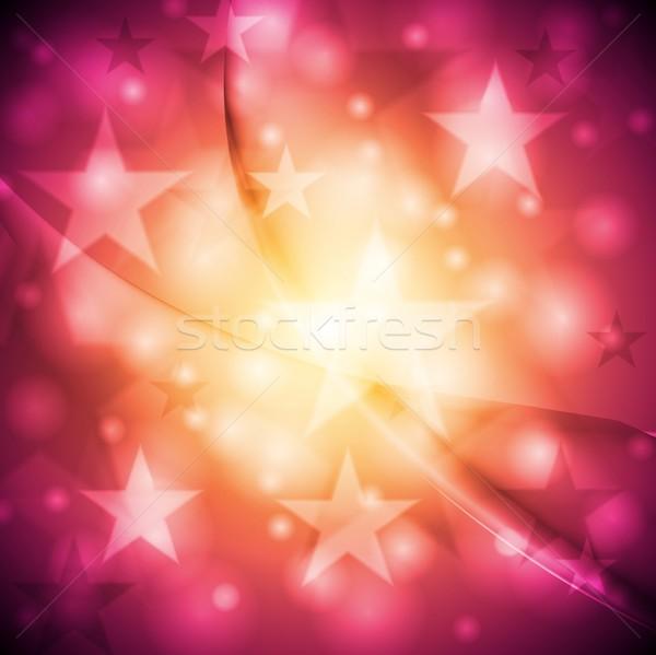Brillante resumen vector diseno colorido estrellas Foto stock © saicle