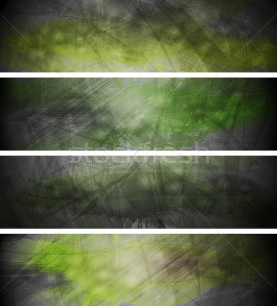 Green textural backgrounds set Stock photo © saicle