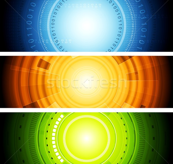 Bright abstract tech vector banners Stock photo © saicle