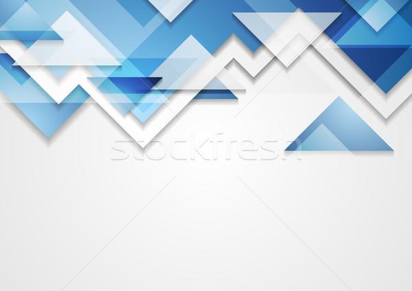 Błyszczący niebieski tech streszczenie korporacyjnych wektora Zdjęcia stock © saicle