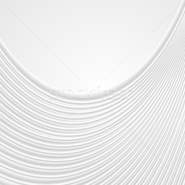 Abstract white wavy lines pattern background Stock photo © saicle