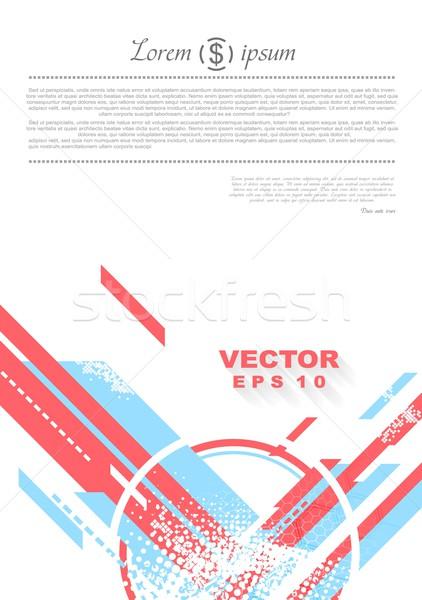 геометрия Гранж Tech минимальный дизайна вектора Сток-фото © saicle