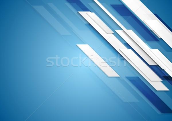 синий движения вектора дизайна текстуры Сток-фото © saicle