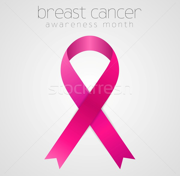 Breast cancer awareness pink ribbon tape design Stock photo © saicle