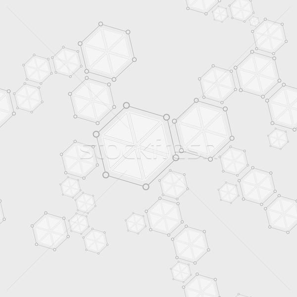 Moleküler yapı soyut çizim vektör Stok fotoğraf © saicle