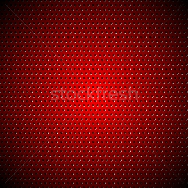 Dark red metal perforated texture Stock photo © saicle