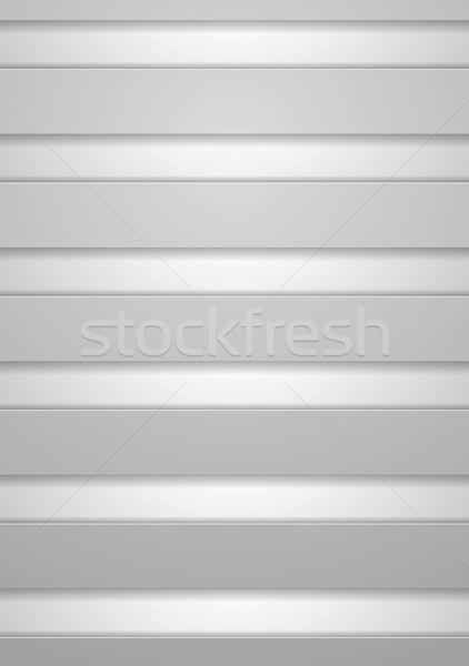 Minimalny technologii świetle szary wektora Zdjęcia stock © saicle