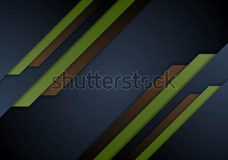 Stock photo: Dark abstract corporate material brochure design