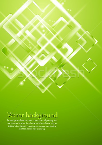 Verde chiaro geometrica vettore design abstract tech Foto d'archivio © saicle