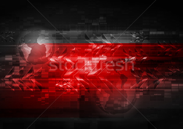 Bright red abstract background Stock photo © saicle