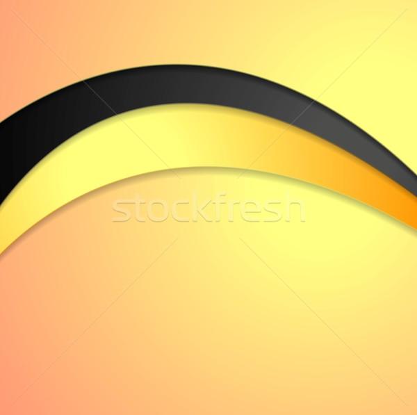 Pastel kleuren golvend vector textuur abstract Stockfoto © saicle