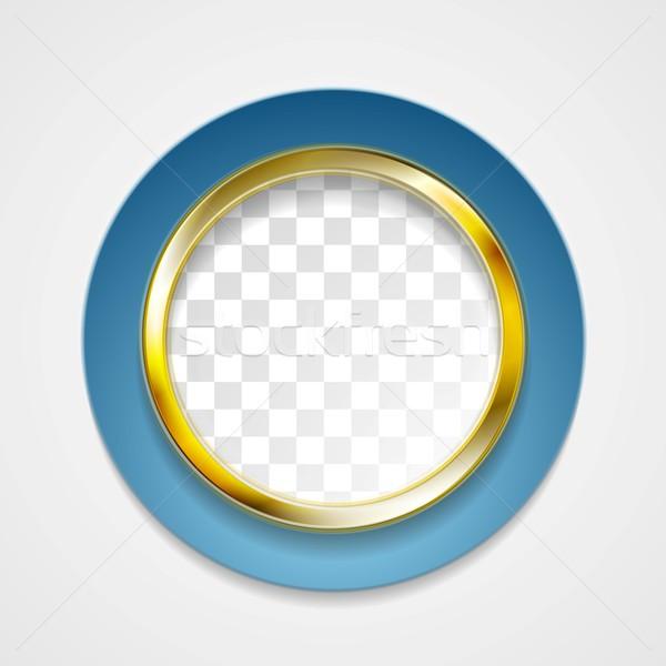 Corporate golden circle for web design Stock photo © saicle