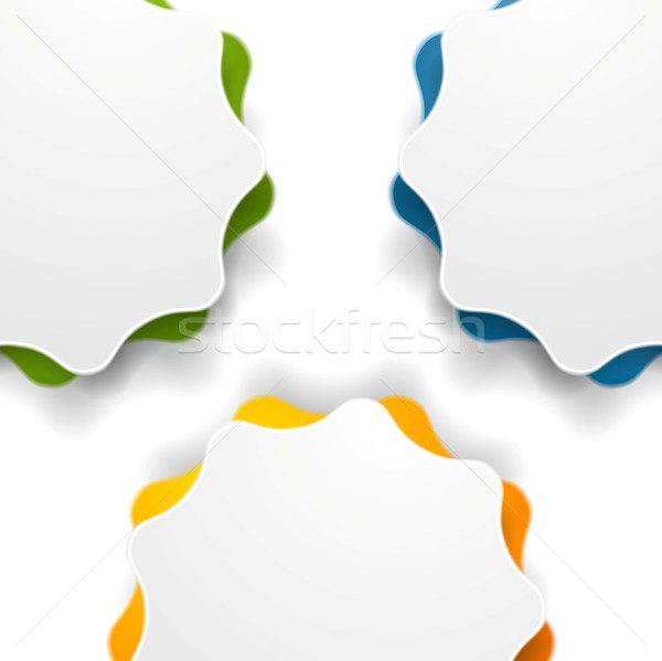 Resumen ondulado forma vector diseno textura Foto stock © saicle