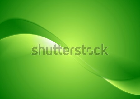 Abstract green smooth waves background Stock photo © saicle