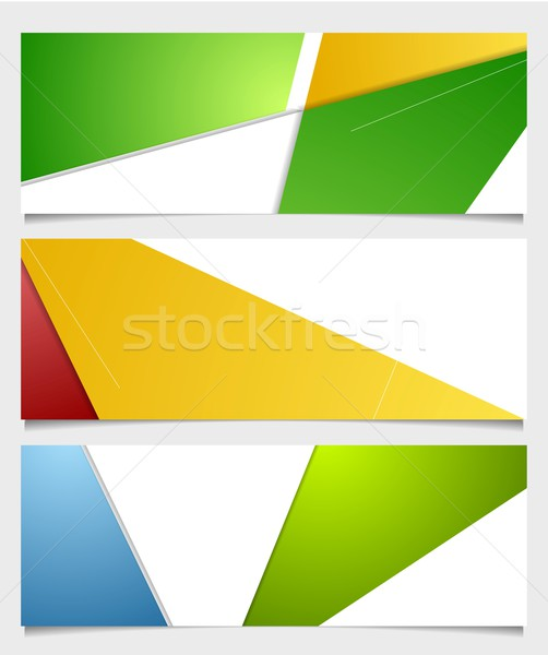 Abstract corporate minimal banners Stock photo © saicle