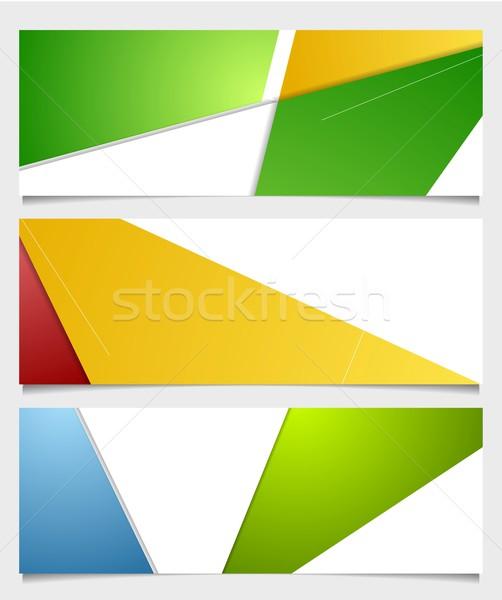 Streszczenie korporacyjnych minimalny banery wektora tech Zdjęcia stock © saicle