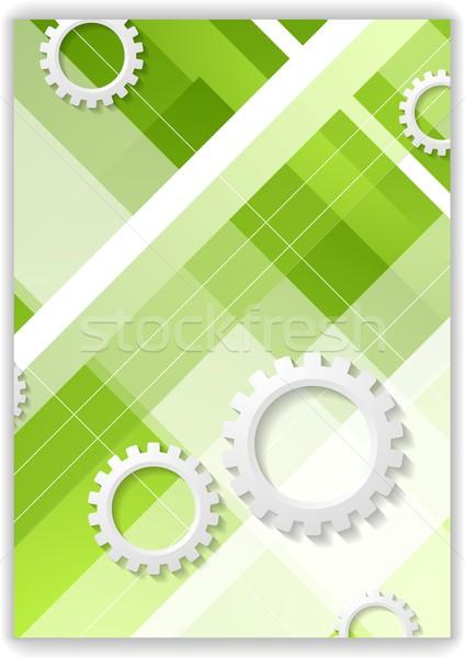 Streszczenie minimalny narzędzi zielone papieru Zdjęcia stock © saicle