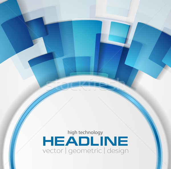 Blue shiny hi-tech vector background layout Stock photo © saicle