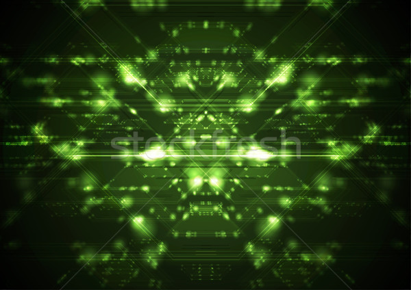 Abstract green shiny cyberspace tech background Stock photo © saicle