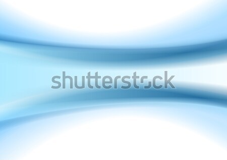 Abstract blue smooth blurred waves background Stock photo © saicle