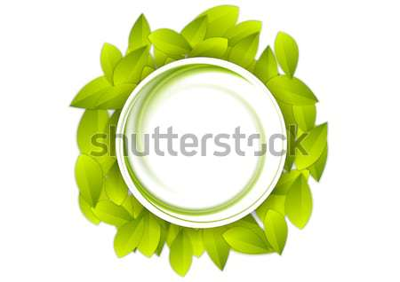 Zielone lata pozostawia streszczenie wideo ożywienie Zdjęcia stock © saicle
