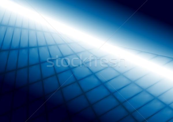 Streszczenie jasne niebieski tech perspektywy Zdjęcia stock © saicle