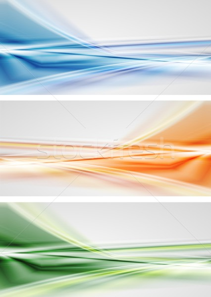 Vetor brilhante banners abstrato colorido projeto Foto stock © saicle