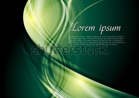 Vetor ondas escuro projeto abstrato verde Foto stock © saicle
