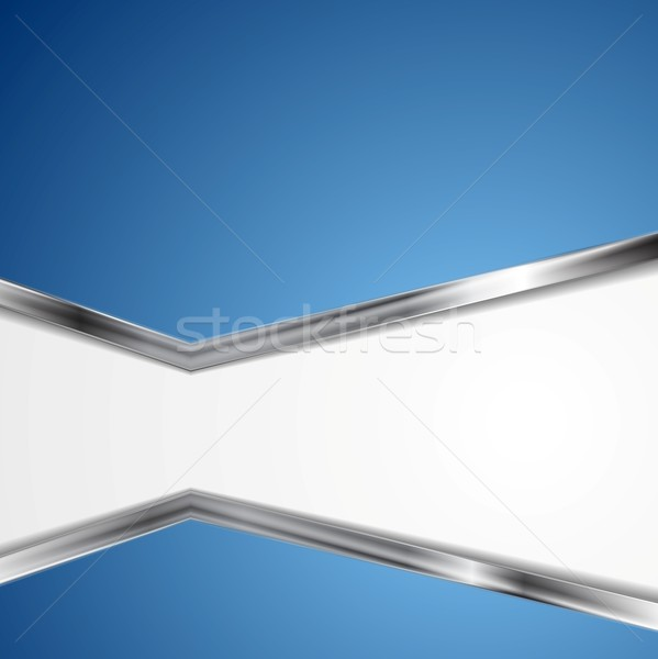 Abstract background with metallic silver stripes Stock photo © saicle