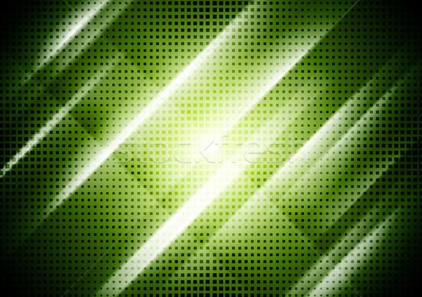 Dark green abstract shiny background Stock photo © saicle