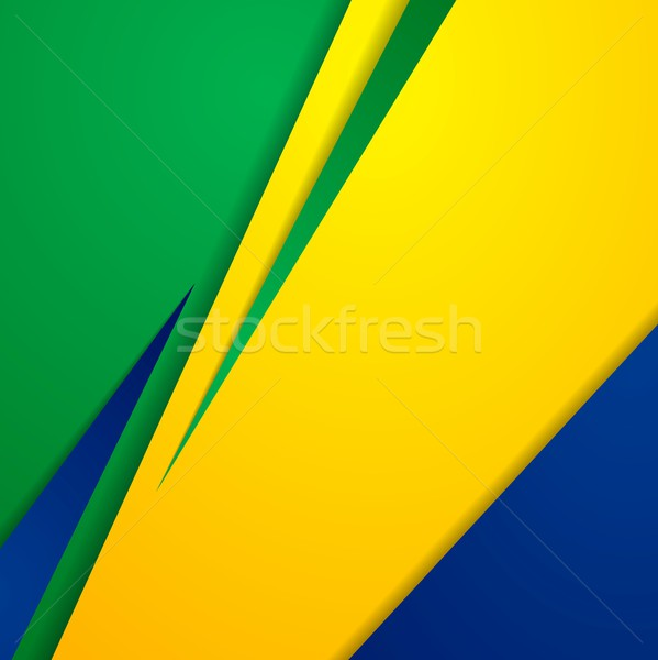 Vector bright abstract background in Brazilian colors Stock photo © saicle