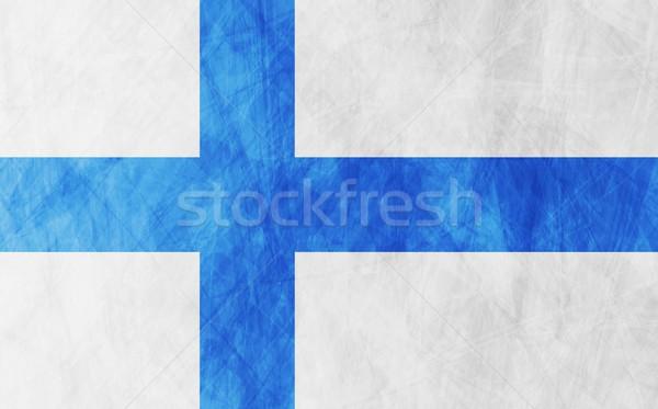 Finnish grunge flag background Stock photo © saicle