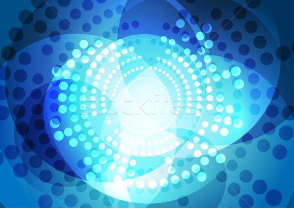抽象的な 青 ハーフトーン サークル ベクトル デザイン ストックフォト © saicle