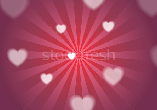 Foto stock: Dia · dos · namorados · corações · brilhante · vetor · cartão · projeto
