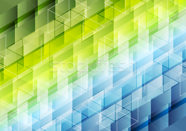 Colorful geometric polygonal pixelated background Stock photo © saicle