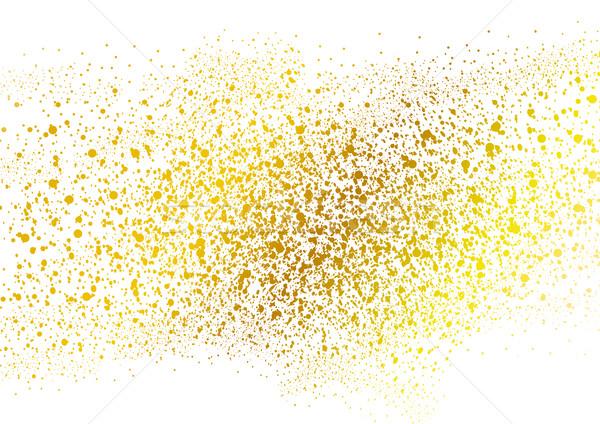 Resumen grunge dorado punteado vector diseno Foto stock © saicle