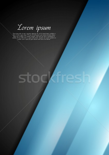 抽象的な コントラスト 黒 青 ベクトル デザイン ストックフォト © saicle