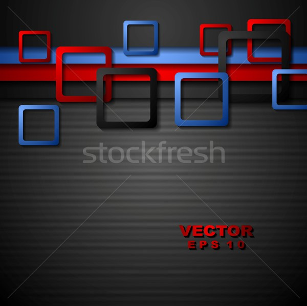 Bright abstract corporate geometry background Stock photo © saicle