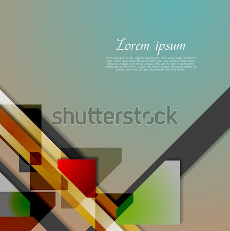 Abstract hi-tech geometry background Stock photo © saicle